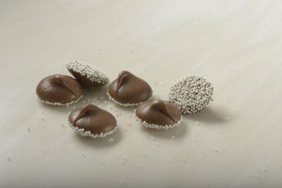 Milk Chocolate Nonpareils with White Seeds