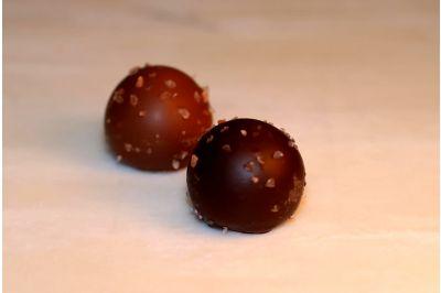 Dark Chocolate Caramel Truffles Box 24pc