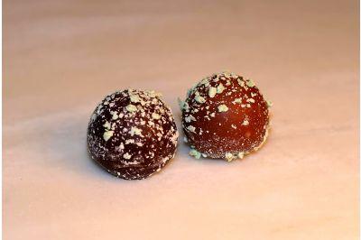 Dark Chocolate Mint Truffles Box 24pc