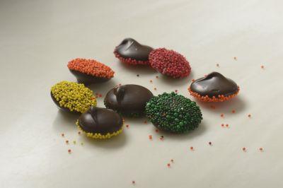 Dark Chocolate Nonpareils with Seasonal Seeds