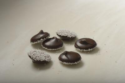 Dark Chocolate Nonpareils with White Seeds